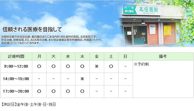 北住医院|京都市伏見区|消化器科