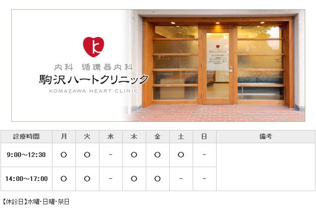 駒沢ハートクリニック|目黒区|内科