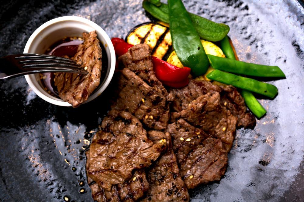 相州和牛のステーキ