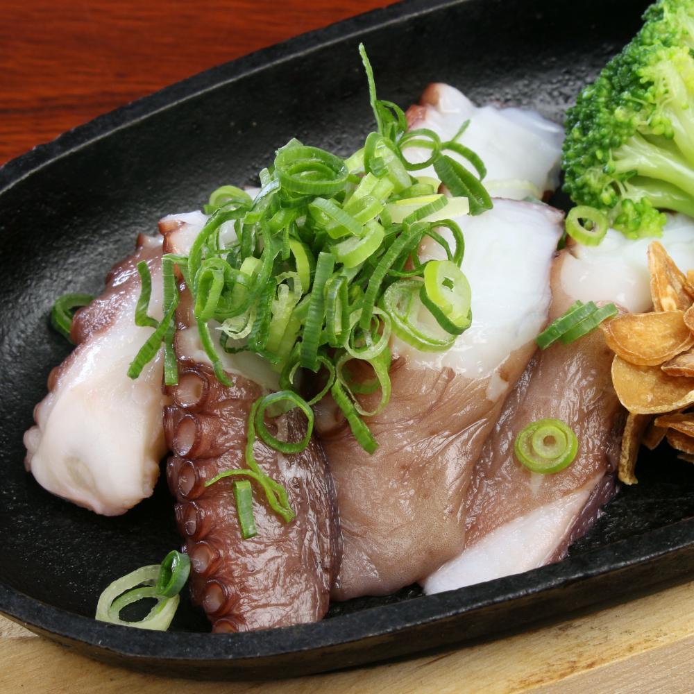 生蛸ガーリック焼