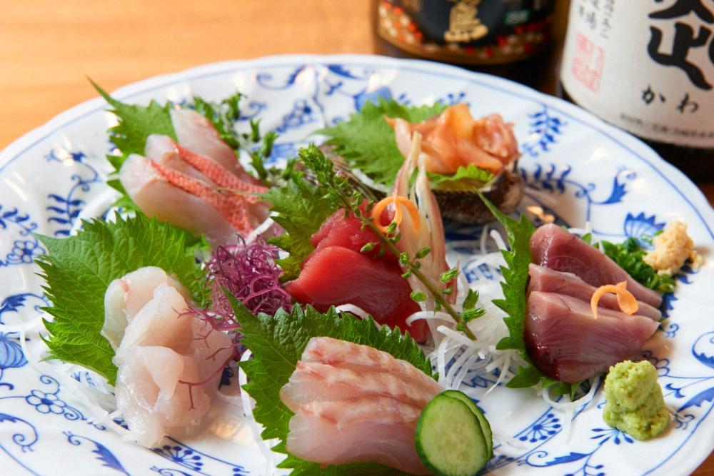毎日仕入れる鮮魚盛り合わせ