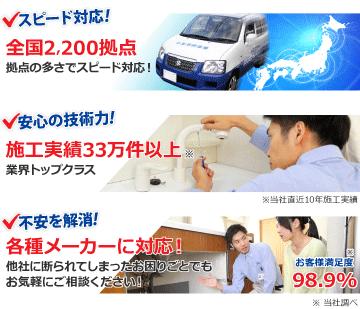 スピード対応・安心の技術力・出張見積り無料