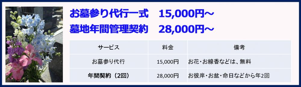 お墓参り代行一式15000円~