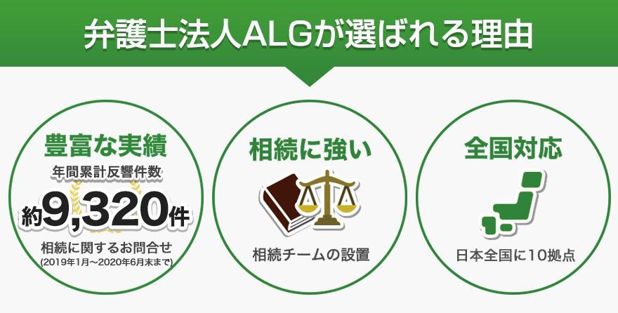 弁護士法人ALGが選ばれる理由