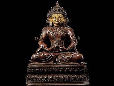 黄銅無量壽佛坐像