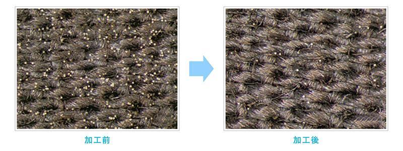 花粉防止加工