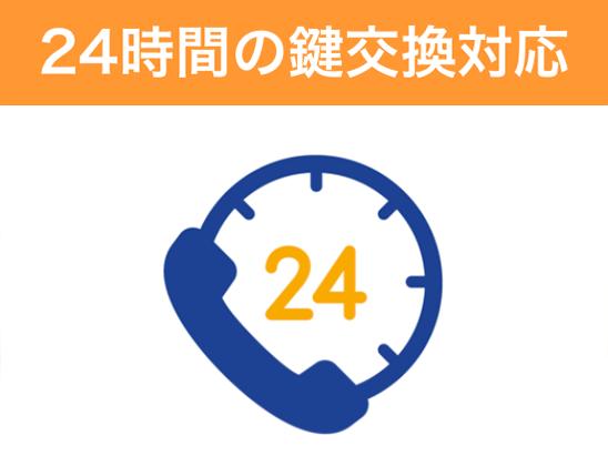 24時間の鍵交換対応